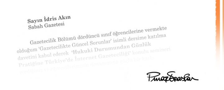 Güzel bir teşekkür mektubu ve 'unutulmamak'